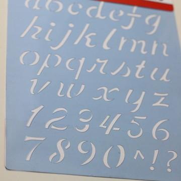 Stencil Alfabeto Minúsculo