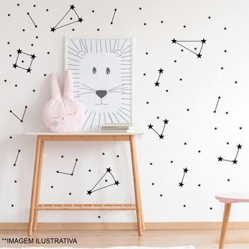 Adesivo de parede constelação - estrelinhas preto