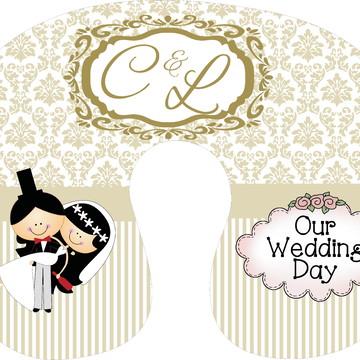 Almofada de Pescoço tema Casamento