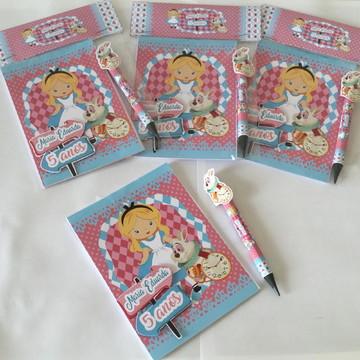 Caderninho de anotações personalizados com lapis