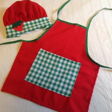 PEDIDO CARLA Avental e chapéu Chef Pizzaria