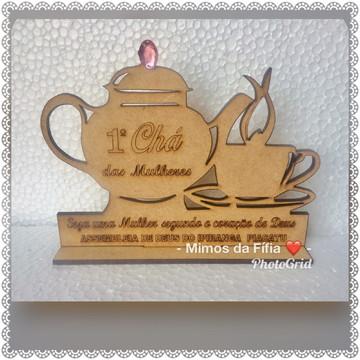 Lembrancinha chá de mulheres mdf cru