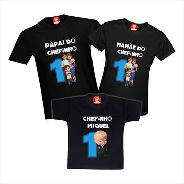 Camisetas de Aniversário O Poderoso Chefinho