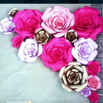 15 Flores Gigante de Papel de 40cm 30cm25cm,20cm15cm
