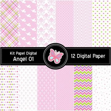 Kit Papel Digital Angel