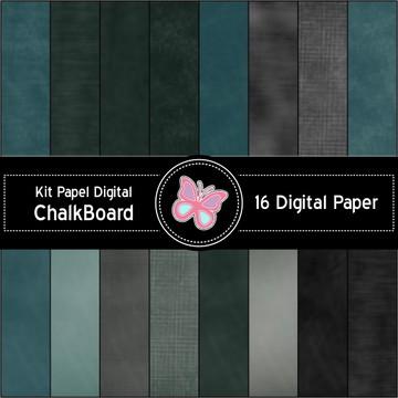 Kit Papel Digital Chalboard