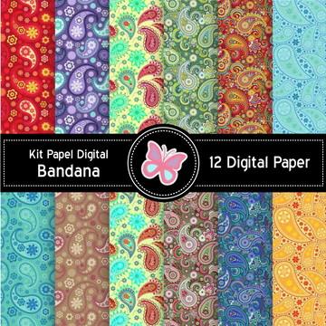 Kit Papel Digital Bandana