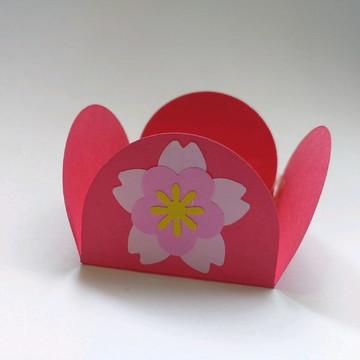 Forminha de doces com flor cerejeira