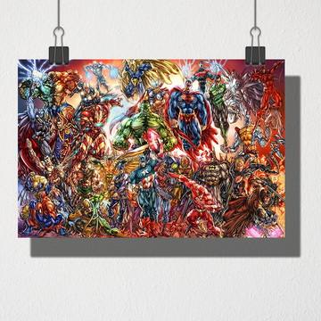 Poster A3 Marvel e DC