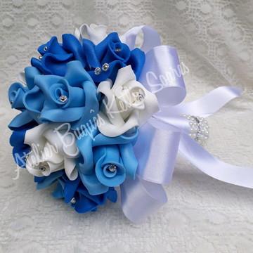 Buquê tons de azul para Pré Wedding