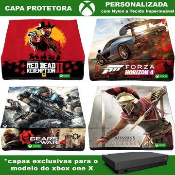 Capa Xbox One X Protetora Em Nylon Personalizada