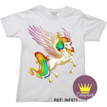 Camiseta Infantil Unicórnio Alado