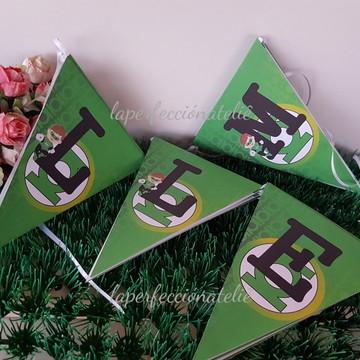 Varal de bandeirinhas Lanterna verde