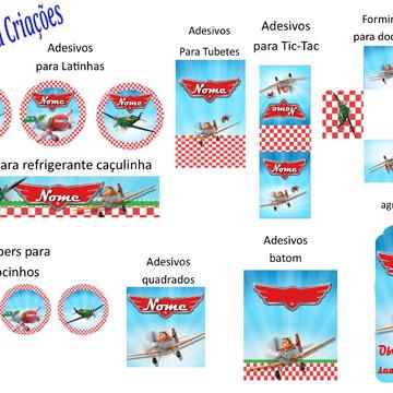 Kit Arte Digital Aviões
