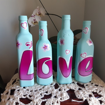 Garrafas decoradas Love (4)