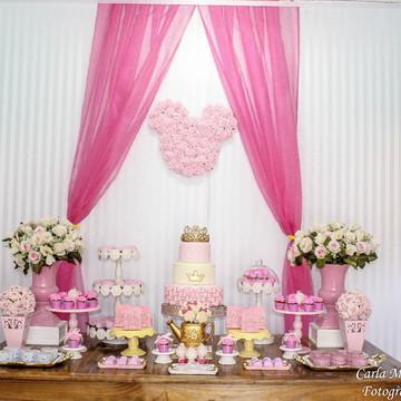 Aluguel decoração Minnie Rosa