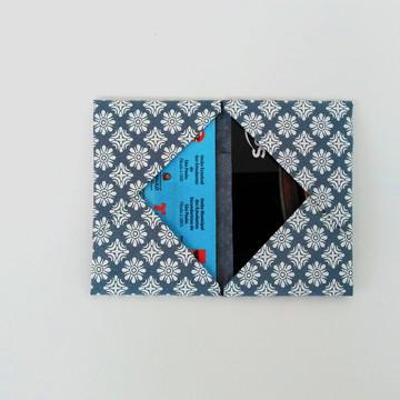 Porta Cartão Orinuno Arabesco blue