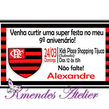 Convite Digital Flamengo 1
