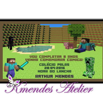 Convite Digital Minecraft 1