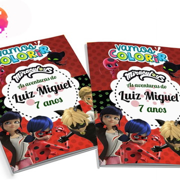 Livro para colorir Miraculous