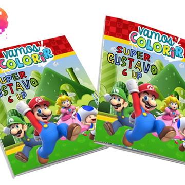 Livro para colorir Super Mario