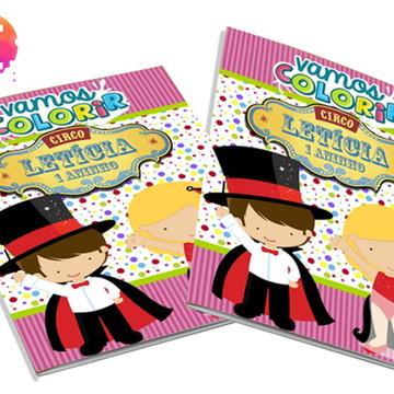 Livro para colorir Circo Rosa
