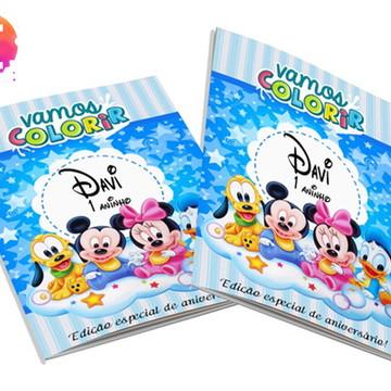 Livro para colorir Mickey Baby
