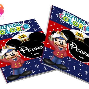 Livro para colorir Mickey Marinheiro