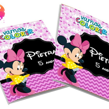 Livro para colorir Minnie Rosa