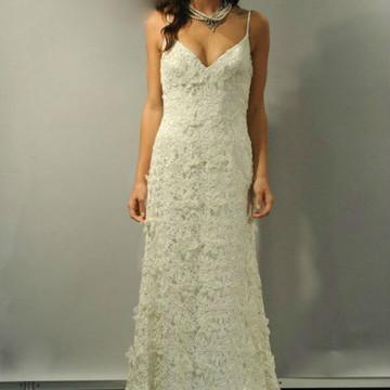 Vestido Noiva Renda Guipir Alcinhas Boho Chic