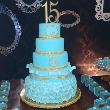 Maquete azul Tiffany