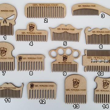 Lembrança Personalizada Barbeiro Cabeleireiro Pente Barba