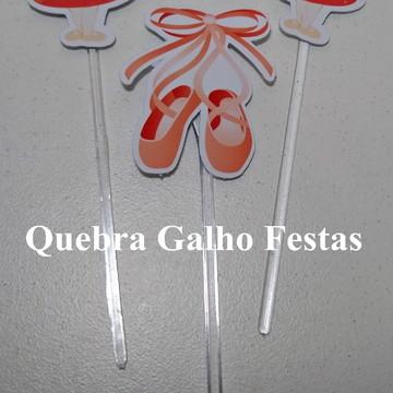 Topper doces Bailarina - Pct com 10