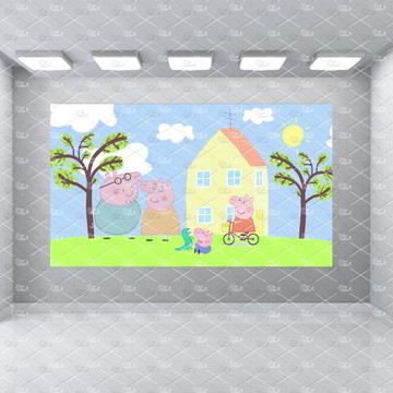 Painel Peppa Pig 2,5x1,5m