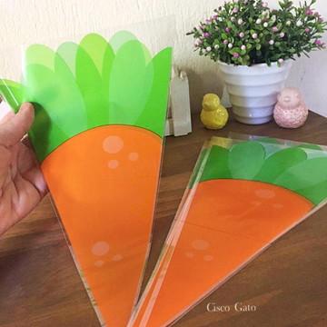 Embalagem para doces - cone cenoura