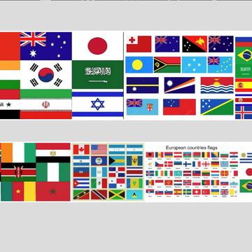 Quadro bandeira paises america africa asia europa oceania