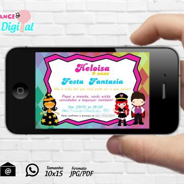 Convite Digital Festa Fantasia