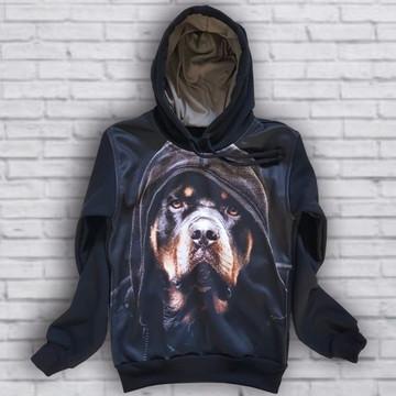 Moletom Dog Capuz Skull