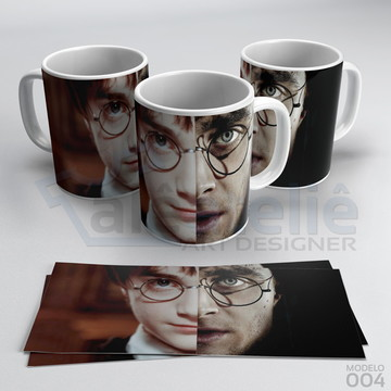 Caneca Harry Potter Hogwarts Faces Personalizada Porcelana