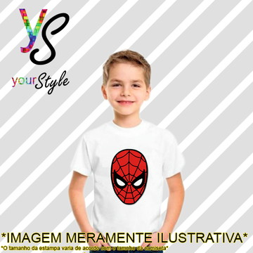 Camiseta Infantil Máscara do Homem-aranha