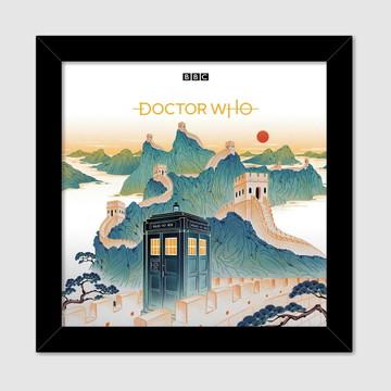Quadro decorativo Série Doctor Who Muralha (Poster Series)