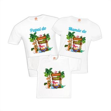 Camisetas de Aniversário Dinossauro