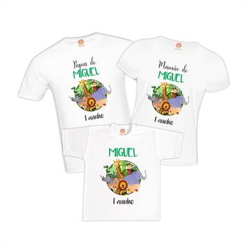 Camisetas de Aniversário Selva Floresta Animais Bichinhos