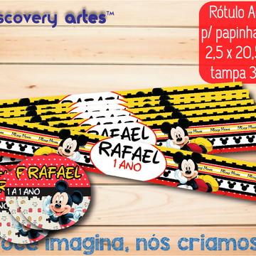 Rótulo Adesivo Papinha Mickey