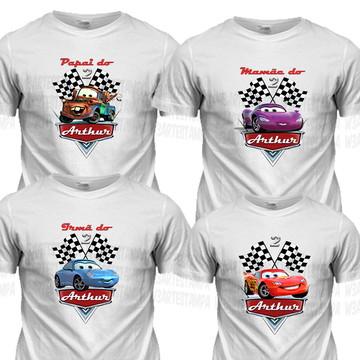 14 Camisetas Carros Disney Aniversário Blusas Aniversario
