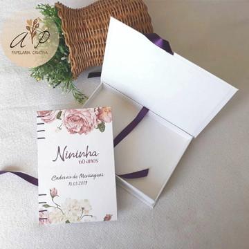 Caderno Artesanal para Mensagens + Caixa Cartonada