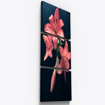 Quadros Decorativos Flor Rosa Botanico Florido Sala Tri002