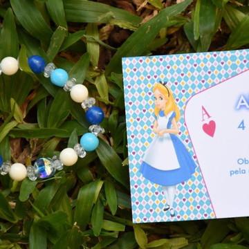 Lembrança Pulseira Personalizada no Tema - Alice