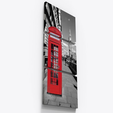 Quadros Decorativos Londres Preto Branco Big Ben City Tri049