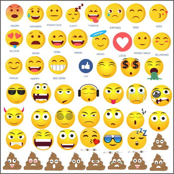 Vetores Emoji e Redes Sociais CDR, EPS, Ai e PNG (306 Vetor
